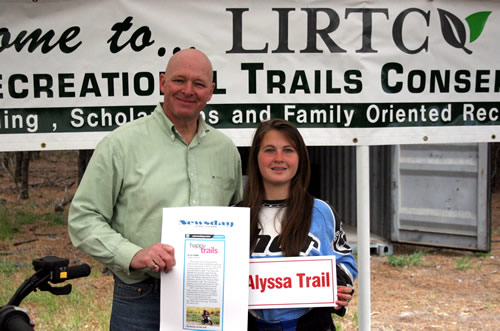 May 6, 2012 - Trail Dedication for Alisa Romer